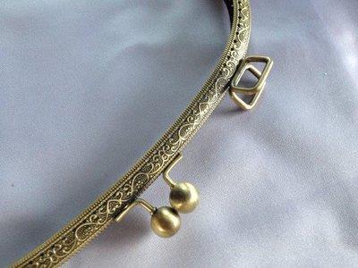 Tasbeugel brons met rechthoekige oogjes