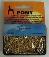 Pony Gebogen Veiligheidsspelden (Curved Quilting Safety Pins)