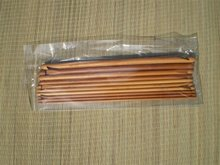 Set gecarboniseerde dubbele haaknaalden bamboe, 10 inch. ca. 26 cm