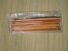 Set gecarboniseerde dubbele Tunische haaknaalden bamboe, ca. 33 cm